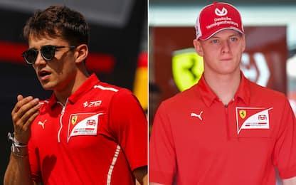 Da Leclerc a Mick, i piloti della Ferrari Academy