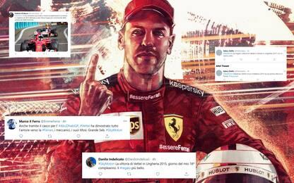 Vettel nel cuore dei tifosi Ferrari: i messaggi