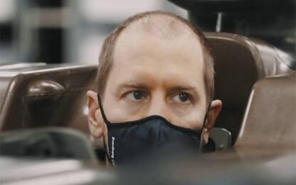 E' un nuovo Vettel in Aston Martin, ma i capelli?