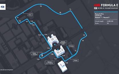 Formula E, nuovo tracciato per il GP Roma all'Eur