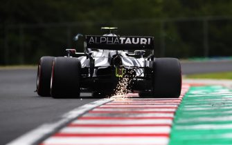epa08553680 A handout photo made available by the FIA shows French Formula One driver Pierre Gasly of the Alpha Tauri team in action during the qualifying session of the Formula One Grand Prix of Hungary in Mogyorod, Hungary, 18 July 2020.  EPA/FIA/F1 HANDOUT  SHUTTERSTOCK OUT HANDOUT EDITORIAL USE ONLY/NO SALES *** Local Caption *** BUDAPEST, HUNGARY - JULY 18: Nicholas Latifi of Canada driving the (6) Williams Racing FW43 Mercedes on track during final practice for the F1 Grand Prix of Hungary at Hungaroring on July 18, 2020 in Budapest, Hungary. (Photo by Bryn Lennon/Getty Images)