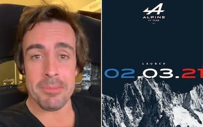 """Alonso e l'Alpine da remoto: """"Difficile viaggiare"""""""