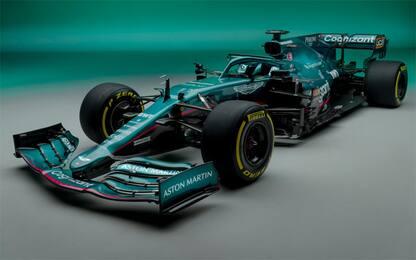 Aston Martin, svelata l'AMR21 di Vettel e Stroll