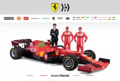 Ferrari, svelata la SF21 di Leclerc e Sainz