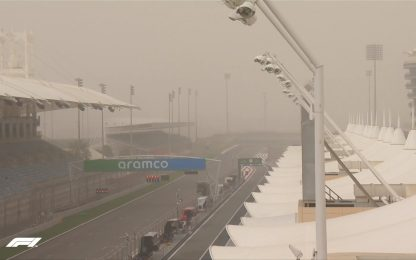 Bahrain, i test nella tempesta di sabbia. FOTO