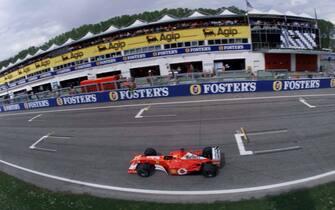 ©ORSI/LAPRESSE14-04-2002 IMOLASPORT MOTORIGP F1 SAN MARINONELLA FOTO : MICHAEL SCHUMACHER, TEAM FERRARI