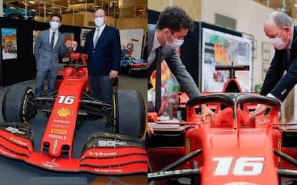 """Leclerc, la SF90 """"in prestito"""" al principe Alberto"""