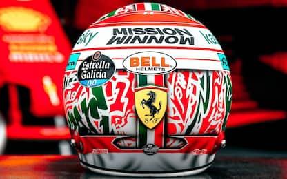 """Imola, il casco """"Made in Italy"""" di Leclerc. FOTO"""