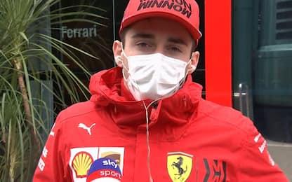 """Leclerc sorride: """"La macchina va alla grande"""""""