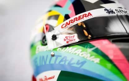 Giovi, Made in Italy sulla testa: il casco a Imola