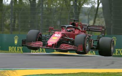 Leclerc show: la Ferrari vola sul cordolo! VIDEO