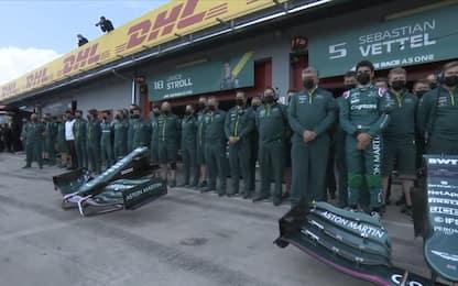 Il saluto della F1 al principe Filippo. VIDEO