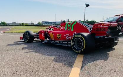Ferrari, Sainz a Fiorano sulla SF71H. VIDEO