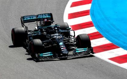 Hamilton, pole numero 100 a Barcellona. 4° Leclerc