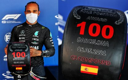 Hamilton, pole numero 100. 4° Leclerc, 6° Sainz