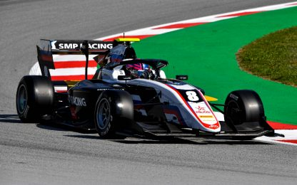 Formula 3, la prima gioia di Smolyar: vince Gara-1