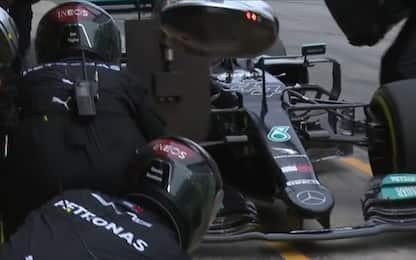 GP Spagna, momento chiave: il 2° pit stop Mercedes