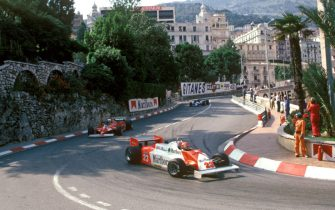 Bruno Giacomelli in an Alfa Romeo 179 coming down into Loews Hairpin from Mirabeau Superieur at the Monaco GP, 1981. (Photo by: GP Library/Universal Images Group via Getty Images)