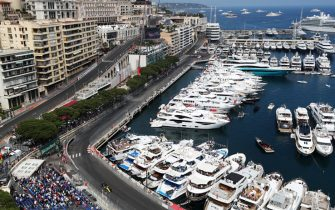 Renault's Daniel Ricciardo exits Tabac corner next to Monaco Harbour during second practice at the Circuit de Monaco, Monaco. (Photo by David Davies/PA Images via Getty Images)