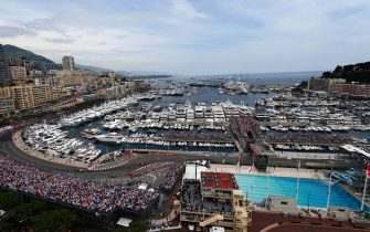 MONTE CARLO, MONACO - MAY 27:  General view of the harbour and swimming pool complex during the Monaco Formula One Grand Prix at the Circuit de Monaco on May 27, 2012 in Monte Carlo, Monaco.  (Photo by Paul Gilham/Getty Images)
