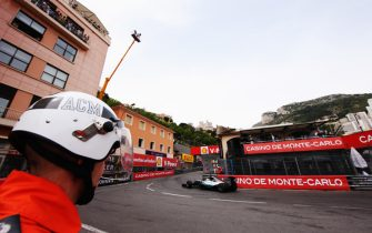 MONTE-CARLO, MONACO - MAY 23:  Lewis Hamilton of Great Britain and Mercedes GP drives through Rascasse corner during final practice for the Monaco Formula One Grand Prix at Circuit de Monaco on May 23, 2015 in Monte-Carlo, Monaco.  (Photo by Ker Robertson/Getty Images)