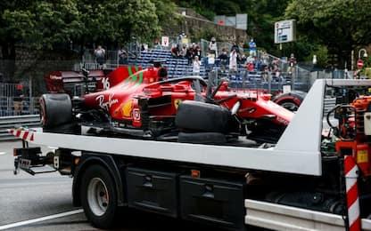 """Leclerc in pole col dubbio cambio: """"Danni lievi"""""""