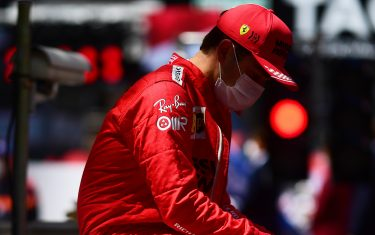 MONTE-CARLO, MONACO - MAY 23: Charles Leclerc of Monaco and Ferrari looks dejected on the grid after discovering he could not start the race during the F1 Grand Prix of Monaco at Circuit de Monaco on May 23, 2021 in Monte-Carlo, Monaco. (Photo by Mario Renzi - Formula 1/Formula 1 via Getty Images)
