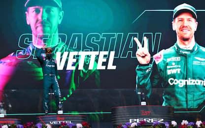 È tornato Vettel, primo podio per l'Aston. FOTO