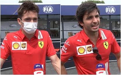 """Leclerc: """"Tifo Azzurri"""". Sainz: """"Italia favorita"""""""