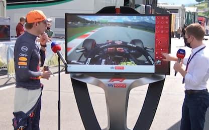 Sky Tech: Verstappen spiega la super pole. VIDEO