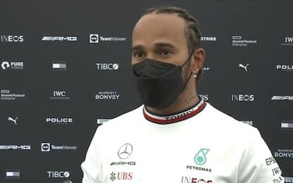 """Hamilton: """"Buon segno vedere 2 Mercedes davanti"""""""