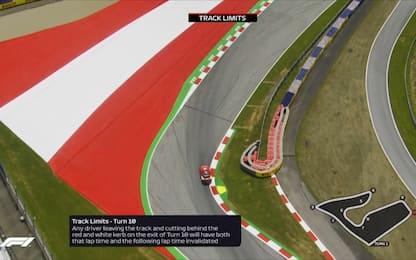 Occhio ai track limits, cosa non fare in Austria