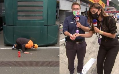 Ricciardo perde un auricolare, lo trova Valsecchi