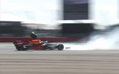 Verstappen, un pauroso impatto a 51G