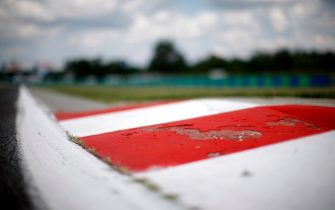 BUDAPEST, HUNGARY - JULY 24:  A general view of the track during previews ahead of the Hungarian Formula One Grand Prix at Hungaroring on July 24, 2014 in Budapest, Hungary.  (Photo by Drew Gibson/Getty Images)
