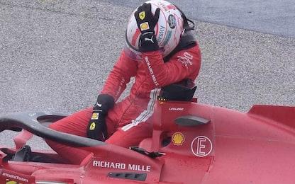 "Leclerc si ritira al via: ""Una partita di bowling"""