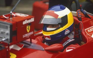 Silverstone, England. 8th - 10th July 1988.Michele Alboreto (Ferrari F187/88C), retired, portrait. World Copyright: LAT Photographic.Ref: 88_GB_06