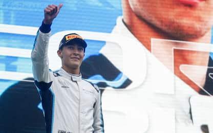"""Russell, primo podio anomalo: """"Lo festeggerò"""""""