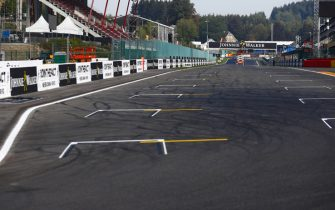 SPA-FRANCORCHAMPS, BELGIUM - AUGUST 23: A scenic view of the pit straight during the Belgian GP at Spa-Francorchamps on August 23, 2018 in Spa-Francorchamps, Belgium. (Photo by Sam Bloxham / LAT Images)