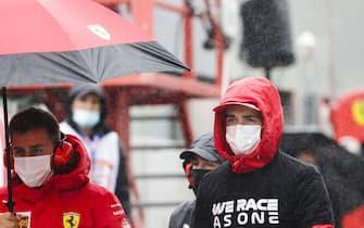 CIRCUIT DE SPA FRANCORCHAMPS, BELGIUM - AUGUST 29: Charles Leclerc, Ferrari during the Belgian GP at Circuit de Spa Francorchamps on Sunday August 29, 2021 in Spa, Belgium. (Photo by Glenn Dunbar / LAT Images)