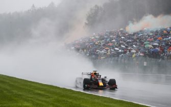 CIRCUIT DE SPA FRANCORCHAMPS, BELGIUM - AUGUST 29: Max Verstappen, Red Bull Racing RB16B during the Belgian GP at Circuit de Spa Francorchamps on Sunday August 29, 2021 in Spa, Belgium. (Photo by Steven Tee / LAT Images)