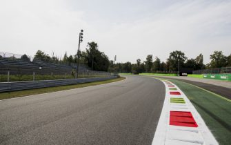 2017 GP3 Series Round 6. Autodromo Nazionale di Monza, Monza, Italy.Thursday 31 August 2017.A view of the exit of Parabolica.Photo: Zak Mauger/GP3 Series Media Service.ref: Digital Image _56I4880