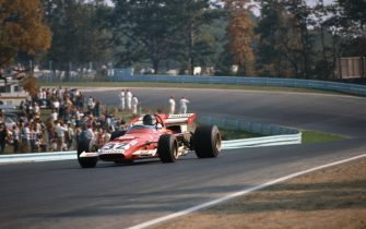 1971 United States Grand Prix. Watkins Glen, New York, USA. 1st-3rd October 1971. Jacky Ickx, Ferrari 312B, retired, at the exit of The Loop. Ref: 71USA62. World Copyright: LAT Photographic