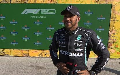"""Hamilton: """"Bravo Max, nel traffico sembrava Mosé"""""""
