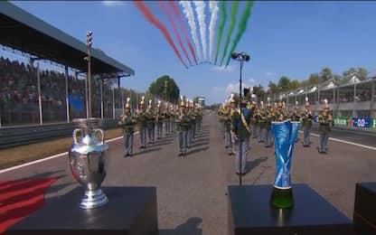 Frecce Tricolori e inno: che spettacolo a Monza!