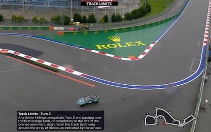 GP Russia, cosa non fare in pista: track limits