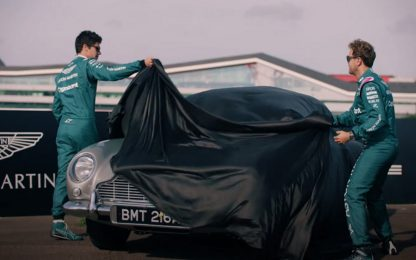 Aston Martin: Vettel-Stroll, una giornata da 007