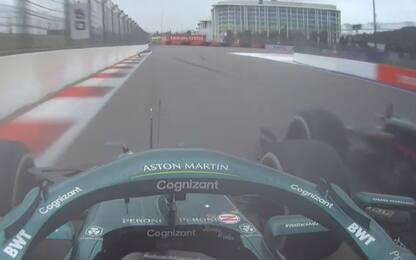 Brivido Aston Martin: contatto Vettel-Stroll