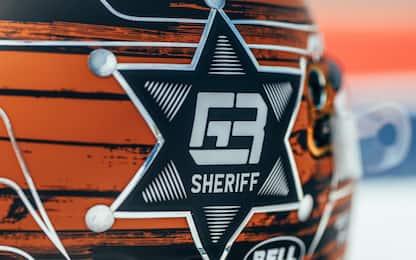 Lo sceriffo Russell: il suo casco per Austin. FOTO