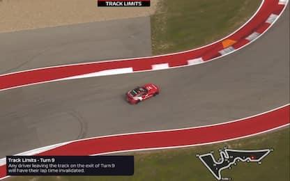 Track limits ad Austin: ecco dove sono. VIDEO
